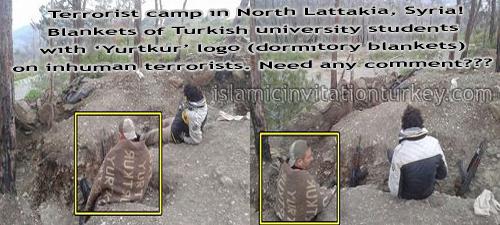 Photo of Photo: Turkish University Students' Blankets are in Syria, heating Terrorists' backs!