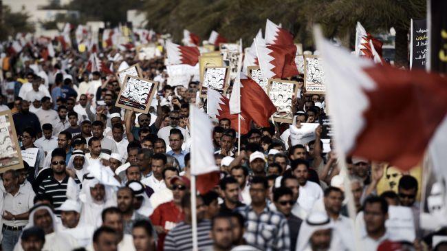 Photo of Bahraini protesters hold anti-regime demos