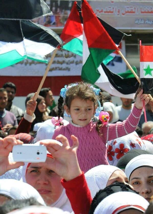 Photo of Citizens of Qara Dimashq in support of the Syrian Arab Army, Bashar Al-Assad