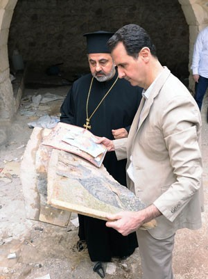 From Maaloula, President al-Assad asserts that Syria's human landmarks will remain steadfast