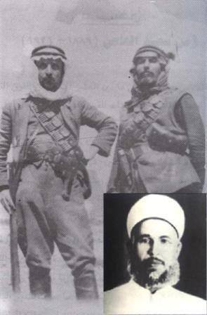 Rare image of the Mujahideen to liberate Jerusalem, Sheikh Ezzedine al-Qassam (right) with one of his companions.