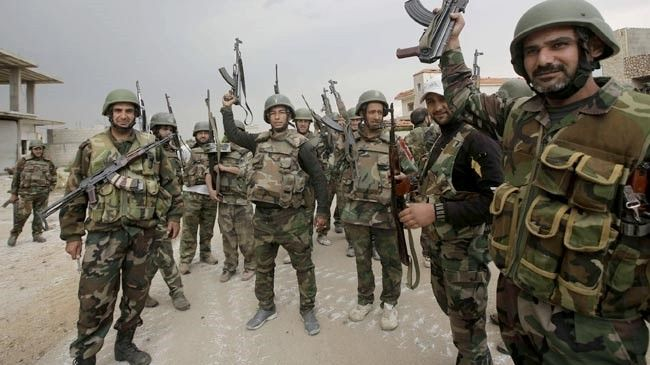 Photo of Syrian Army troops liberate town near capital