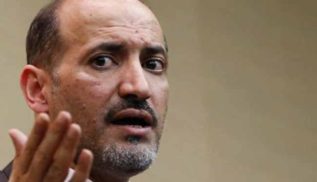 Syrian opposition chief goes to China to discuss Syria crisis