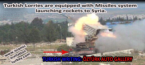Photo of Evidence shows Turkish Lorries equppied with missiles launching rockets to Syria