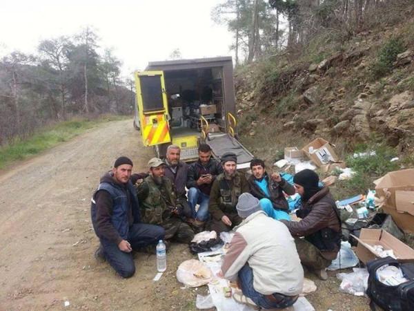 Photo of Photo- British Ambulances with the blessings of regime in Turkey ! Near Kassab Lattakia.