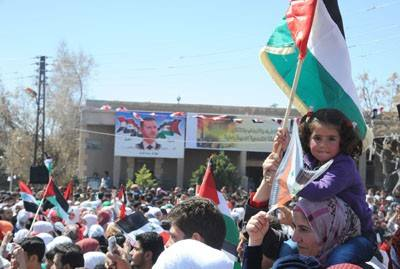 Photo of Syrian Citizens Organize Rally in Qara, Damascus in Support of Army