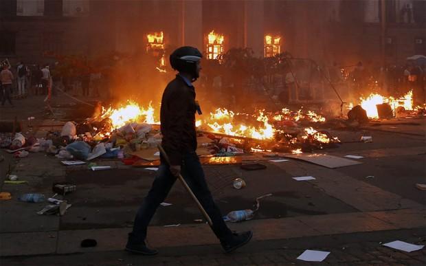 130 arrested in Ukraine over Odessa fire