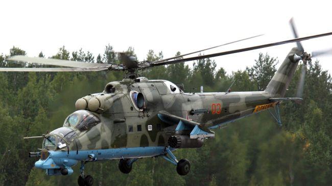 Photo of Ukraine army helicopter shot down in Slavyansk