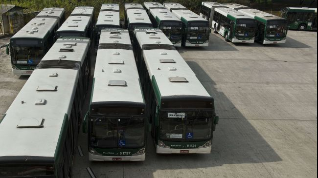 Photo of Brazil bus strike enters second day