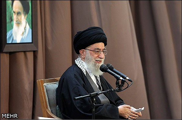 Photo of Leader of Islamic Ummah and Oppressed S. Khamenei: Iran's Resistance, Power Anger US