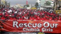 Nigerians demand hostage girls' release