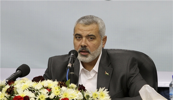 PM Haniya Asks Muslim Media to See Palestinian Issue as Top Priority