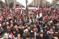 Syrians stage pro-government rallies