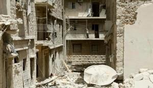 Terrorist bombing levels Aleppo hotel