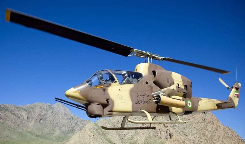 Upgraded Iranian AH-1J SeaCobra Attack Helicopter