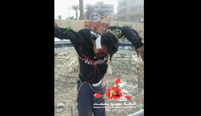 Terrorists now crucifying people in Syria, tweeting out pictures
