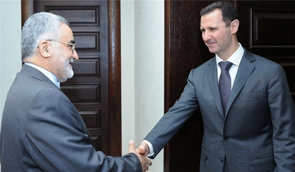 Photo of Iranian Lawmakers Meet President Assad after Victory in Election