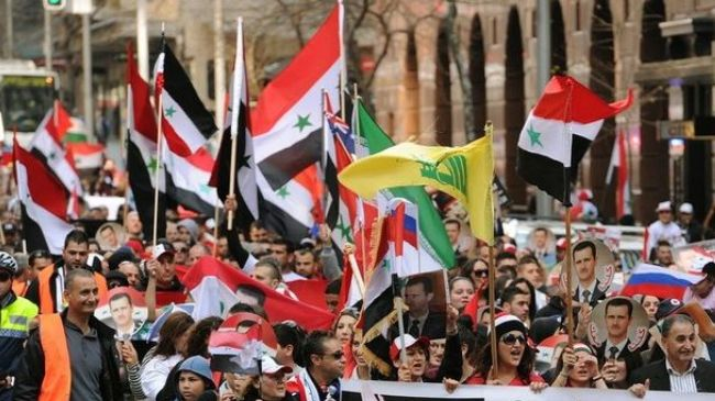 Photo of Syrian expats in Sydney vote for Assad