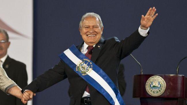 Photo of Ex-guerrilla sworn in as El Salvador's president