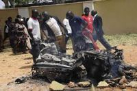 An explosion in Nigeria kills at least one soldier and a female bomber