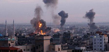 Photo of zionists attacks severa areas in Gaza Strip