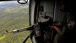 Mexican military chopper target US border guards