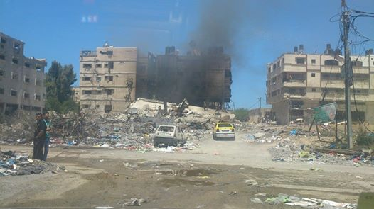 Photo of Today..Toffah area. East of the Gaza Strip