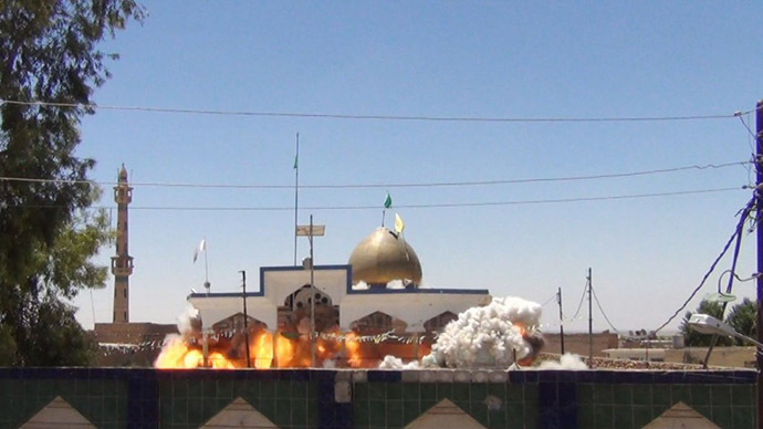 Photo of Turkey-organized terrorists demolish mosques, shrines in northern Iraq (PHOTOS)
