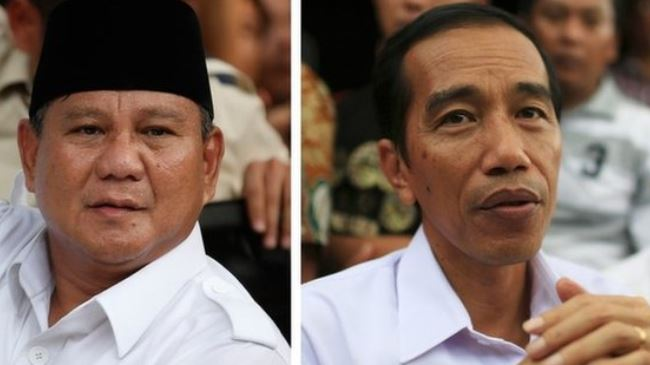 Photo of Indonesians voting in presidential poll