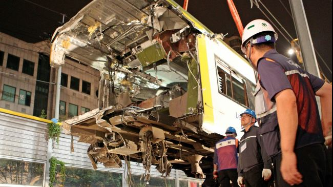Photo of Train collision kills one, injures dozens in S Korea