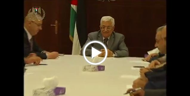 Photo of This grinning zionist servant says land operation is likely! How can Abbas know that???