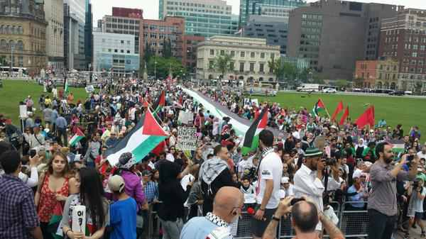 Photo of Canadians rally in favour of Gaza, warn israel over war crimes commited in Paleastine..