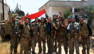Syrian army troops enter town of Maliha