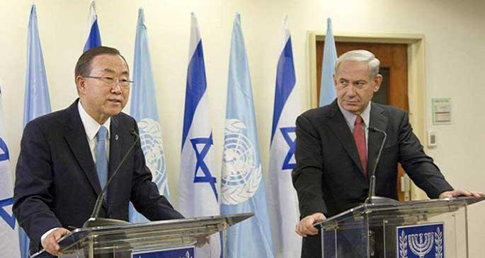 Photo of zionist Ban ki Moon expresses condolences for blood sucker zionists died while slaughtering civilian Gazans