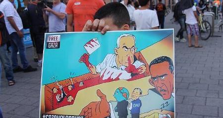 Photo of Arabs in terrorist israel to mark 2014 Intl. Quds Day tomorrow..