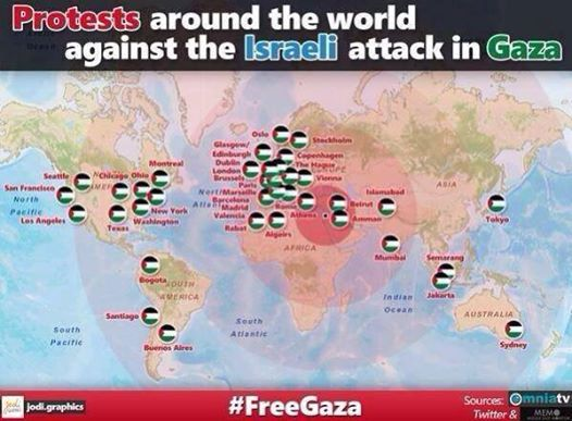 Photo of Picture shows the protests around the world against the Israeli aggression towards Gaza