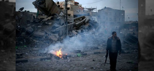 Photo of Israel's fresh airstrike on Gaza Strip; 2 injured