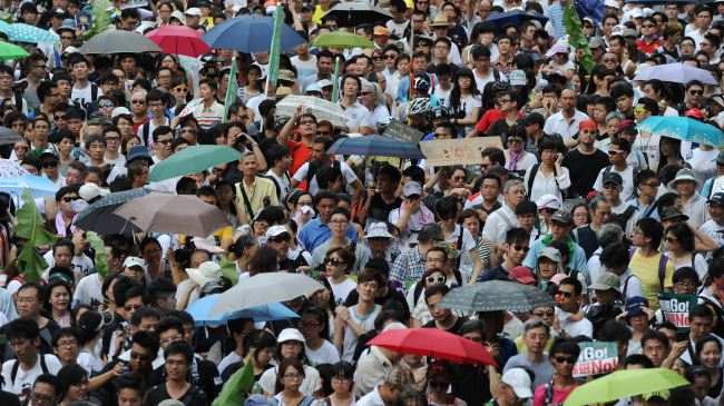 Photo of Hong Kong activists to protest civil disobedience campaign