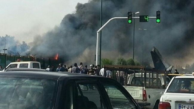 Photo of Iranian plane with 40 on board fatally crashes in Tehran