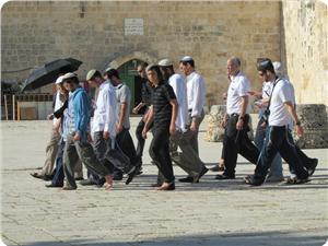 Photo of Inhuman Rabbi and its gang dirties the holy land of Al-Aqsa Mosque