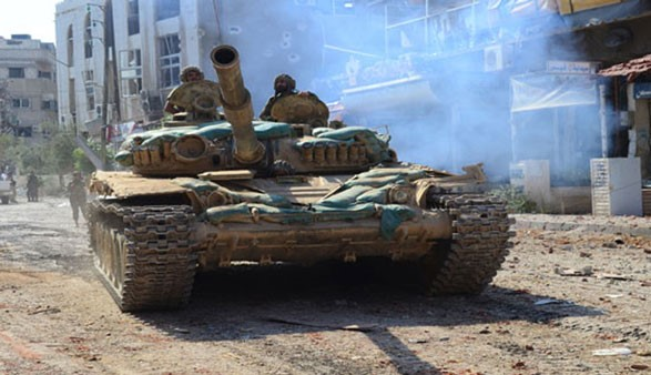 Syrian army continues to clamp down on militants