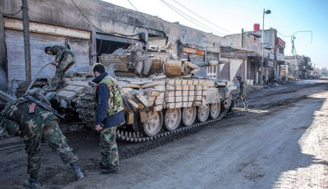 Syria army seizes cache of weapons near Damascus