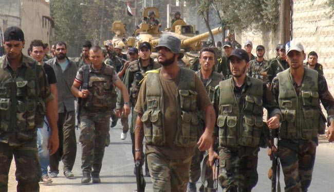 Syrian army push against intruding insurgents persists