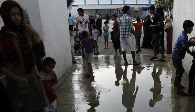 Over 50,000 Gazans live in UNRWA shelters
