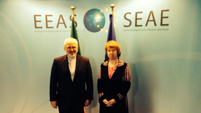 Photo of Zarif, Ashton hold nuclear talks in Brussels