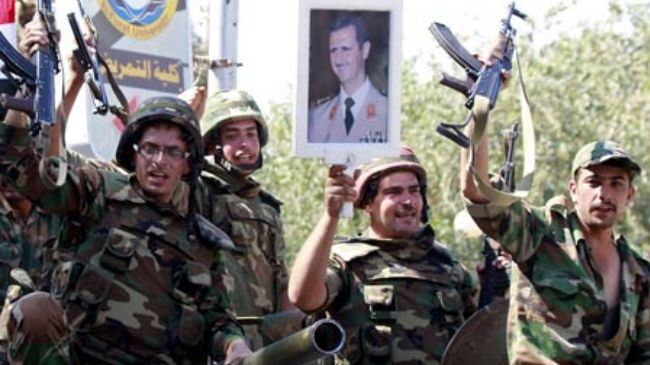 Photo of Syria's government forces fight terrorists in Golan Heights