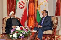 Iran, Tajik presidents start official talks