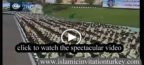 Photo of Spectacular Video- Iranian Police reciting Qur'an in chorus