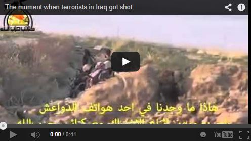 Photo of VIDEO- The moment when terrorists in Iraq got shot