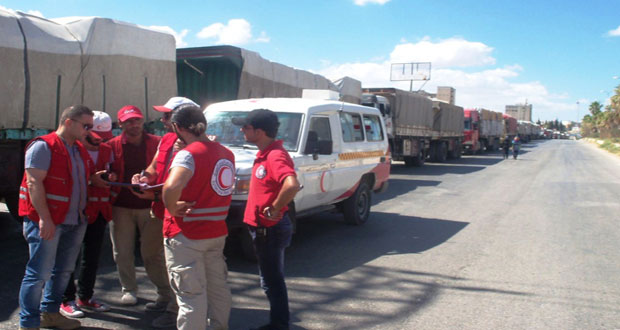 New aid convoy sent to villages in northern Idleb to benefit 2500 families